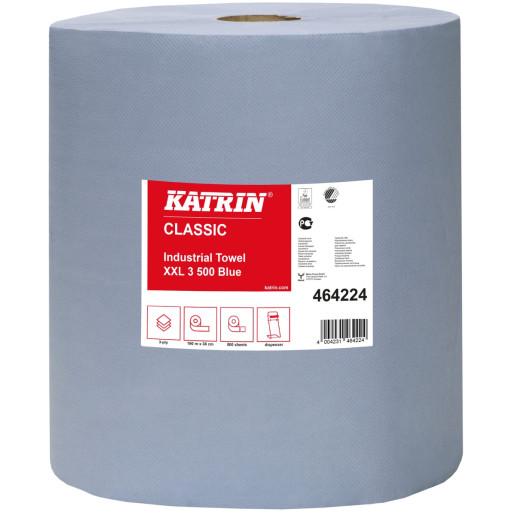 Prosop industrial Katrin XXL, 3 straturi,  albastru 500 portii