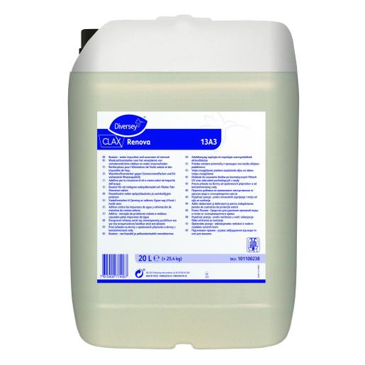 Clax Renova 13A3 - Aditiv dedurizant si deferizant pentru indepartarea petelor de cosmetice si uleiurilor de protectie solara 20L