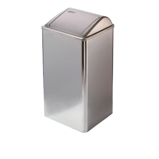 Cos de gunoi cu capac batant 65l din inox Lucios