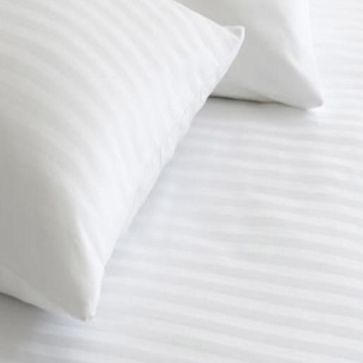 Lenjerie de pat din bumbac 100% satinat, dunga de 1.4cm, single