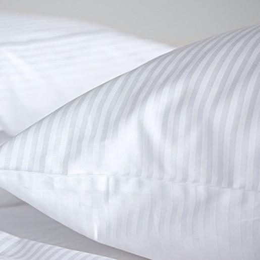 Lenjerie de pat din bumbac 100% satinat cu dunga 1 cm, single