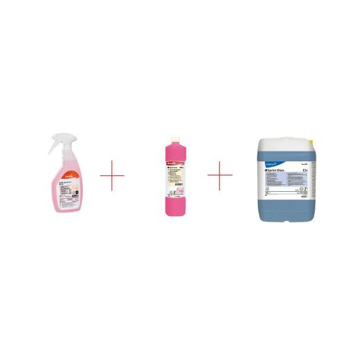 Pachet Promo detergenti grup sanitar si suprafete lavabile