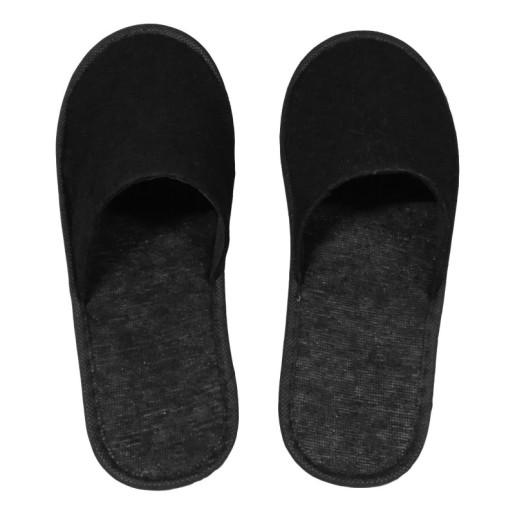 Papuci inchisi in fata din frotir negru,3mm