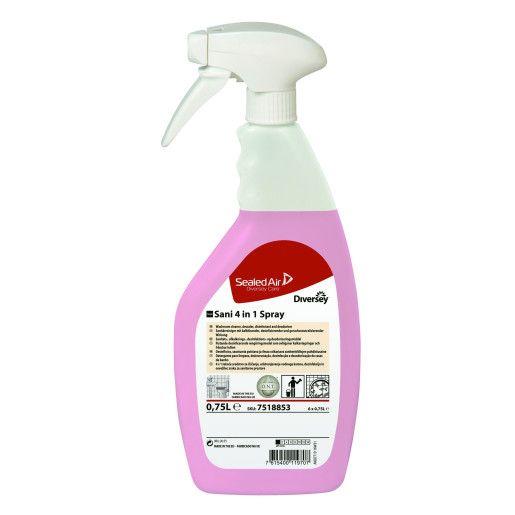 TASKI Sani 4 in 1 - Detergent, detartrant, dezinfectant , dezodorizant profesional pentru grupuri sanitare 750ml
