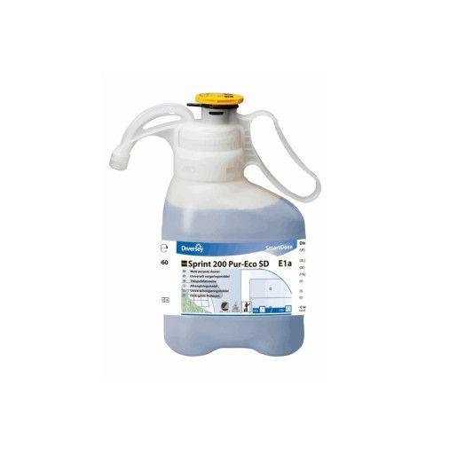 TASKI Sprint 200 Pur-Eco SD - Detergent profesional pe bază de alcool, multifuncţional concentrat, pentru suprafeţe lavabile 1.4L