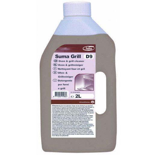 Detergent profesional pentru indepartarea depunerilor carbonizate din cuptoare si gratare Suma Grill D9  2L