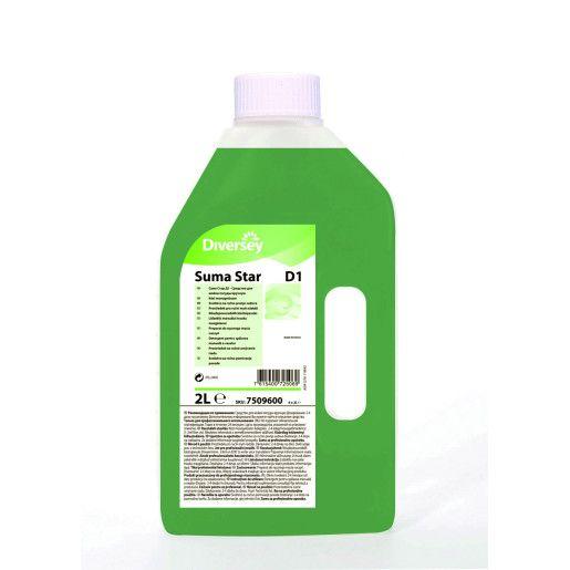 Detergent lichid concentrat manual pentru vase profesional Suma Star D1  2L