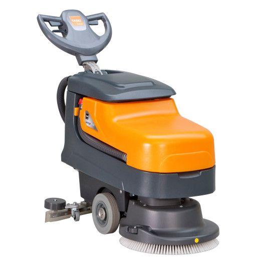 Maşină profesionala automată compactă, pentru spălarea şi uscarea pardoselilor, cu acumulatori şi încărcător extern TASKI Swingo 455 B