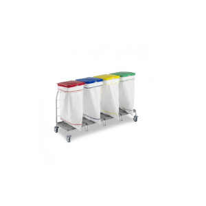 Carucior pentru transport lenjerie murdara cu 4 compartimente