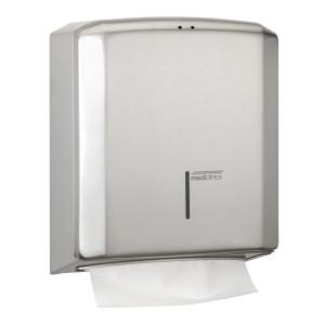 Dispenser prosoape pliate hartie cu sistem de inchidere cu cheie din inox satinat