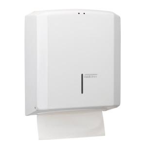 Dispenser prosoape pliate hartie cu sistem de inchidere cu cheie,  din otel alb