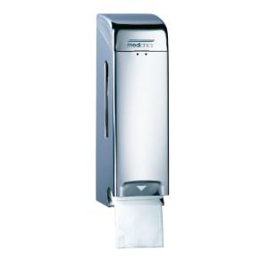 Dispenser de hârtie igienică cu 2/3 role din inox lucios