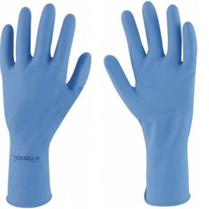 Manusi latex reutilizabile Sempervelvet albastru M