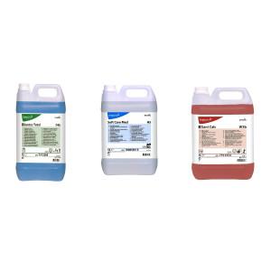 Pachet curatenie suprafete si dezinfectant: Taski Jontec Total, Soft Care Med, Taski Sani Calc