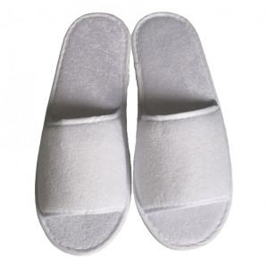 Papuci deschisi in fata din frotir, 4mm