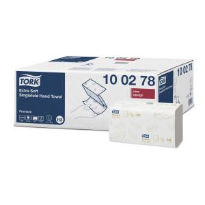 Prosoape pentru maini pliate Tork Singlefold Extra Soft, Premium, 2 straturi