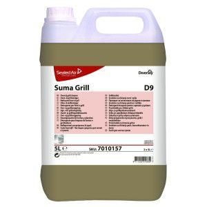 Detergent profesional pentru indepartarea depunerilor carbonizate din cuptoare si gratare Suma Grill D9  5L