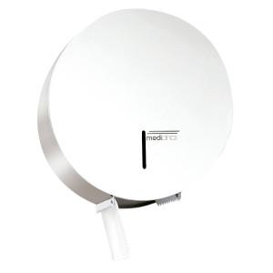 Dispenser hartie igienica rolă Jumbo 400m oțel alb