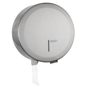 Dispenser de hârtie igienica din inox satinat cu rola de hartie industriala 230mm