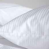 Lenjerie de pat din bumbac 100% satinat cu dunga 1 cm, dubla