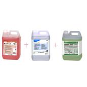 Pachet curatenie suprafete si dezinfectant: Taski Sani Cid, Soft Care Med, Jontec 300